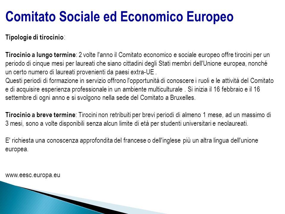 Comitato Sociale ed Economico Europeo