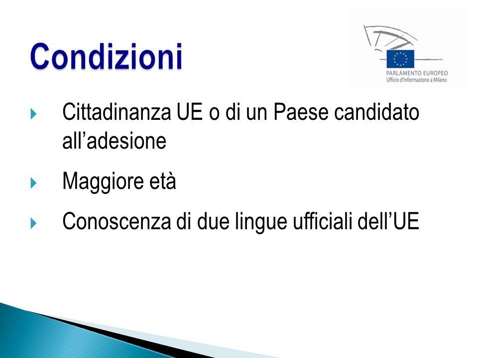Condizioni Cittadinanza UE o di un Paese candidato all'adesione