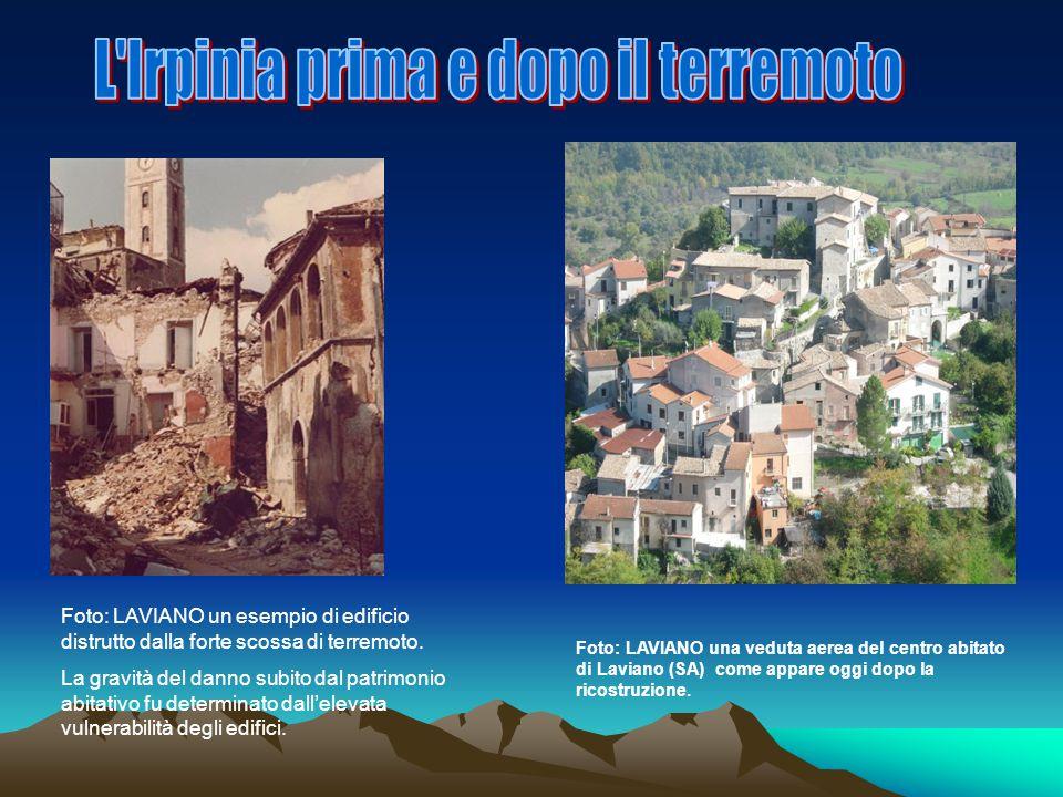 L Irpinia prima e dopo il terremoto