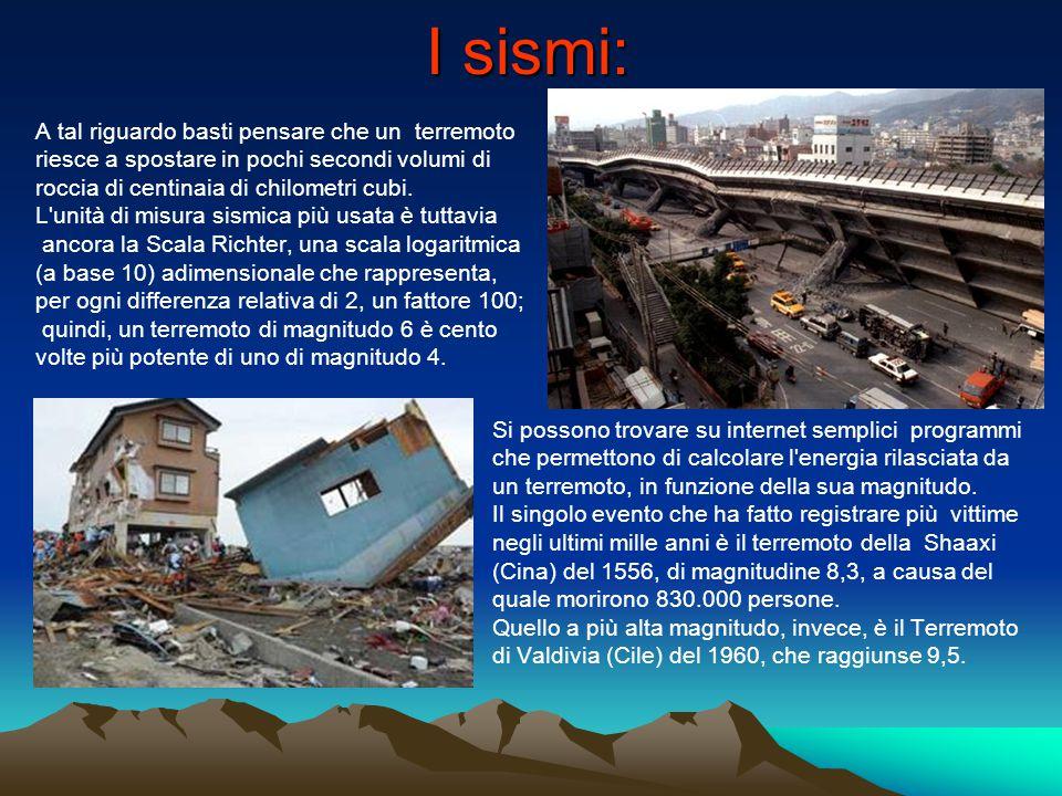 I sismi: A tal riguardo basti pensare che un terremoto