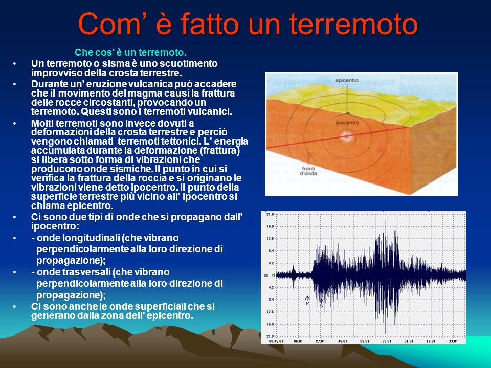 Com' è fatto un terremoto
