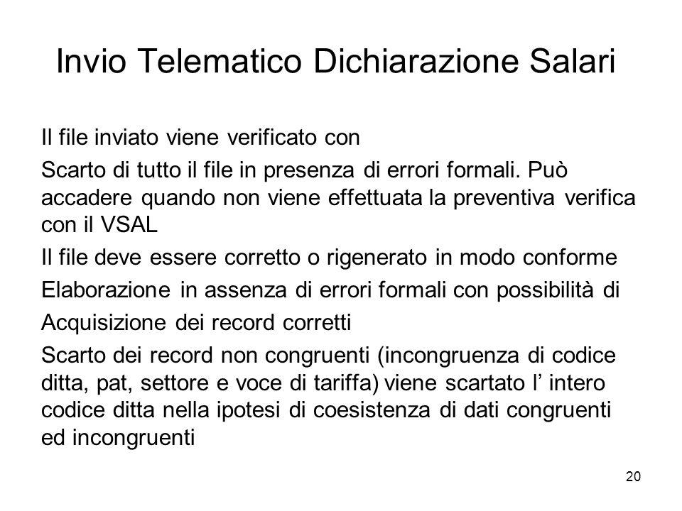 Invio Telematico Dichiarazione Salari