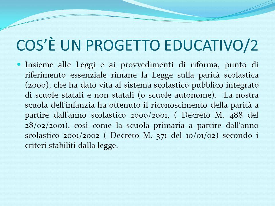COS'È UN PROGETTO EDUCATIVO/2