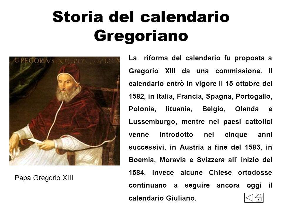 Storia del calendario Gregoriano
