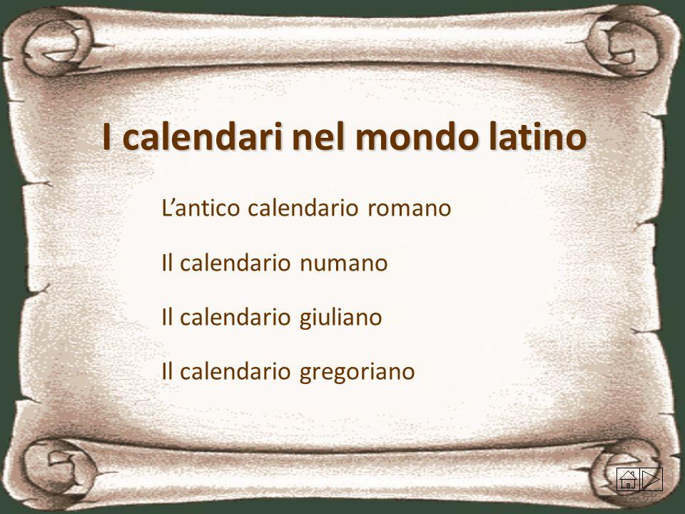 I calendari nel mondo latino