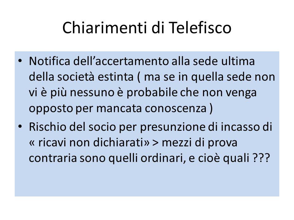 Chiarimenti di Telefisco