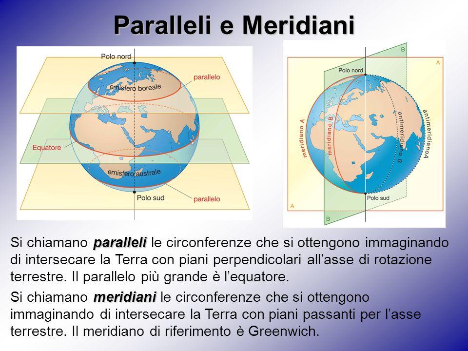 Paralleli e Meridiani