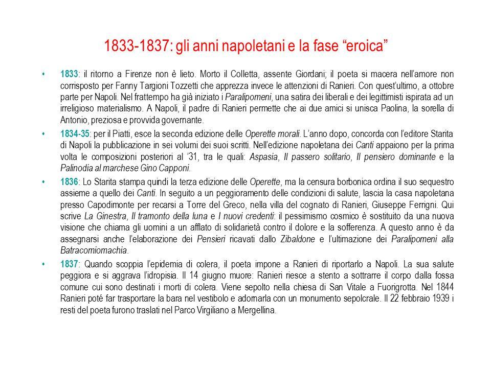 1833-1837: gli anni napoletani e la fase eroica