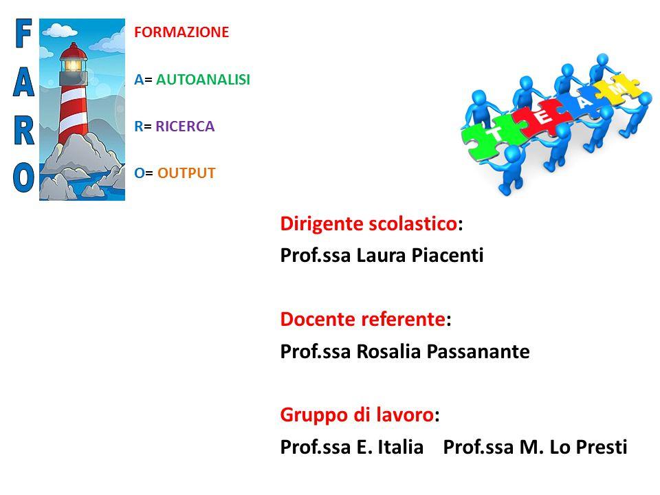 F A R O Dirigente scolastico: Prof.ssa Laura Piacenti