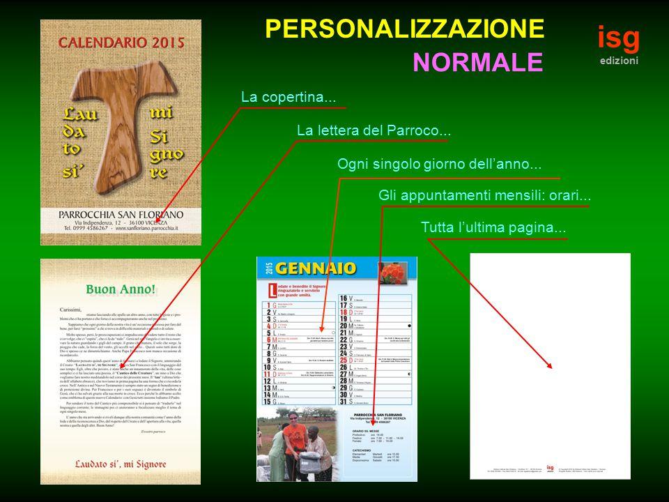 isg PERSONALIZZAZIONE NORMALE La copertina...