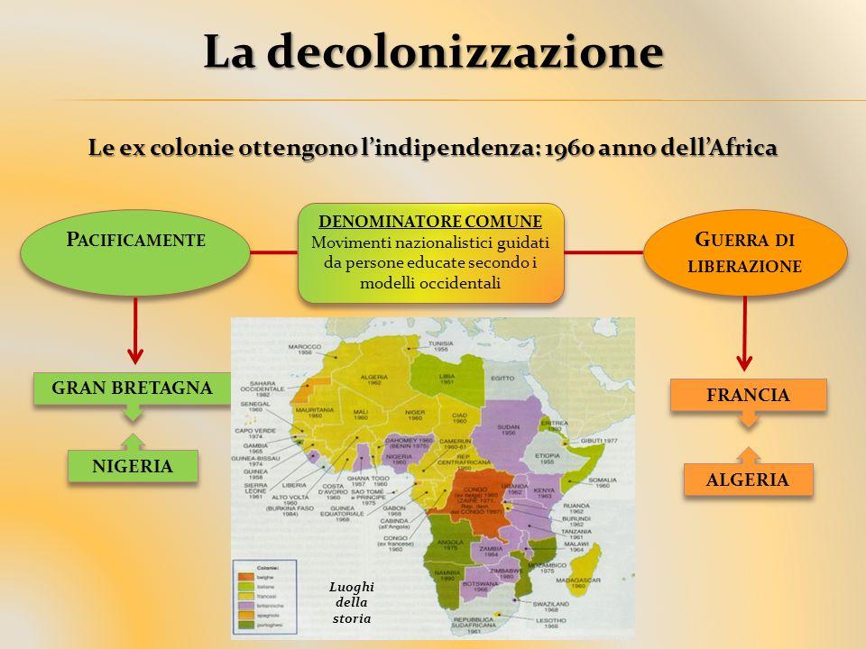Le ex colonie ottengono l'indipendenza: 1960 anno dell'Africa