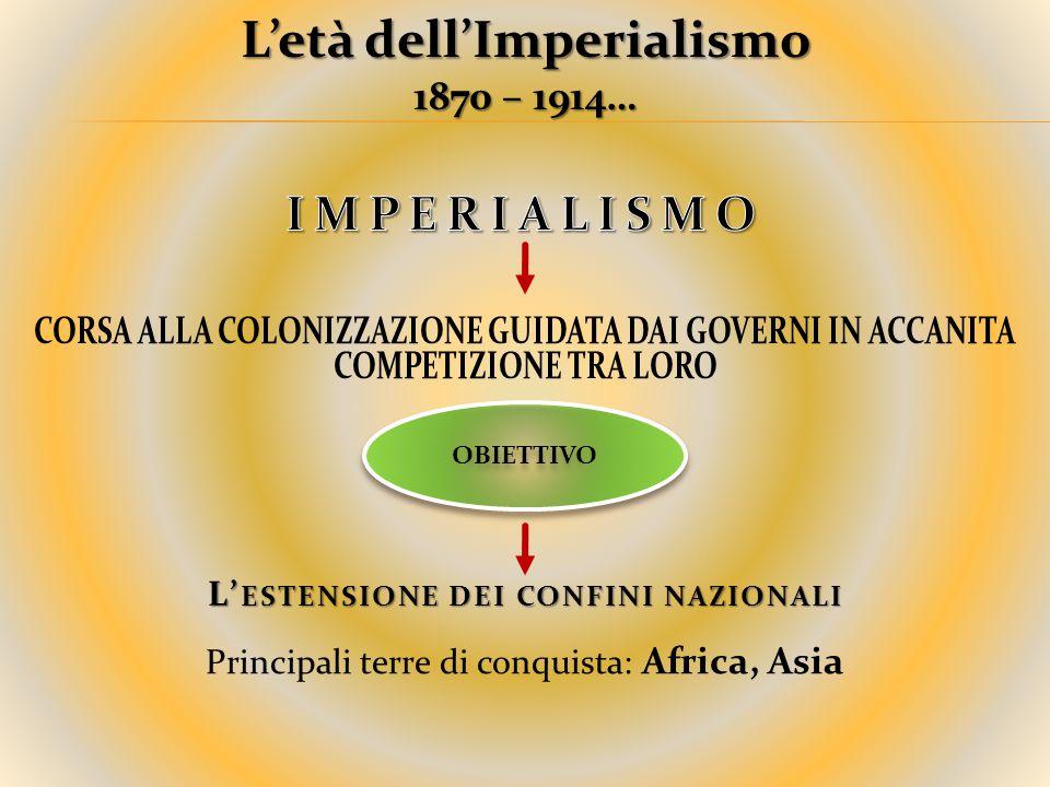 L'età dell'Imperialismo 1870 – 1914…