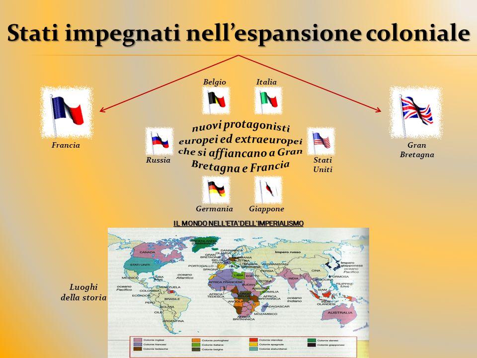 Stati impegnati nell'espansione coloniale