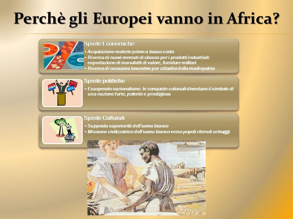 Perchè gli Europei vanno in Africa