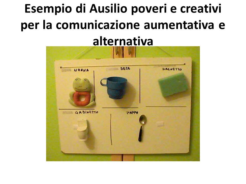 Esempio di Ausilio poveri e creativi per la comunicazione aumentativa e alternativa