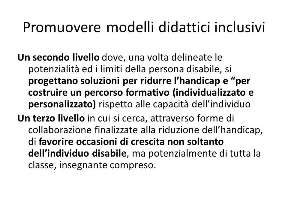 Promuovere modelli didattici inclusivi