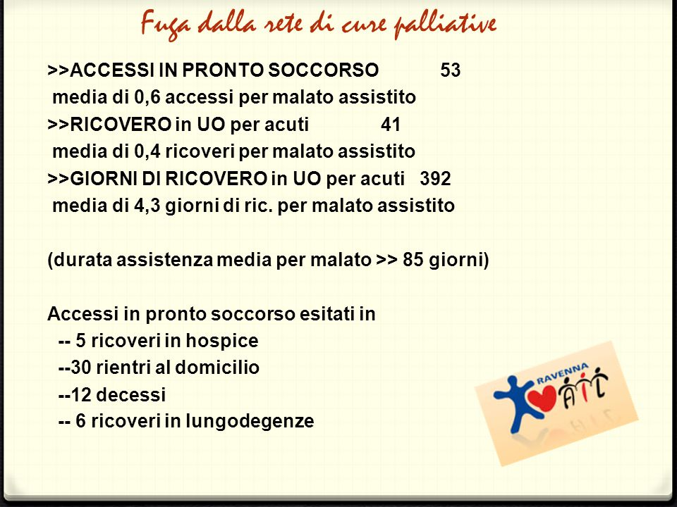 Fuga dalla rete di cure palliative