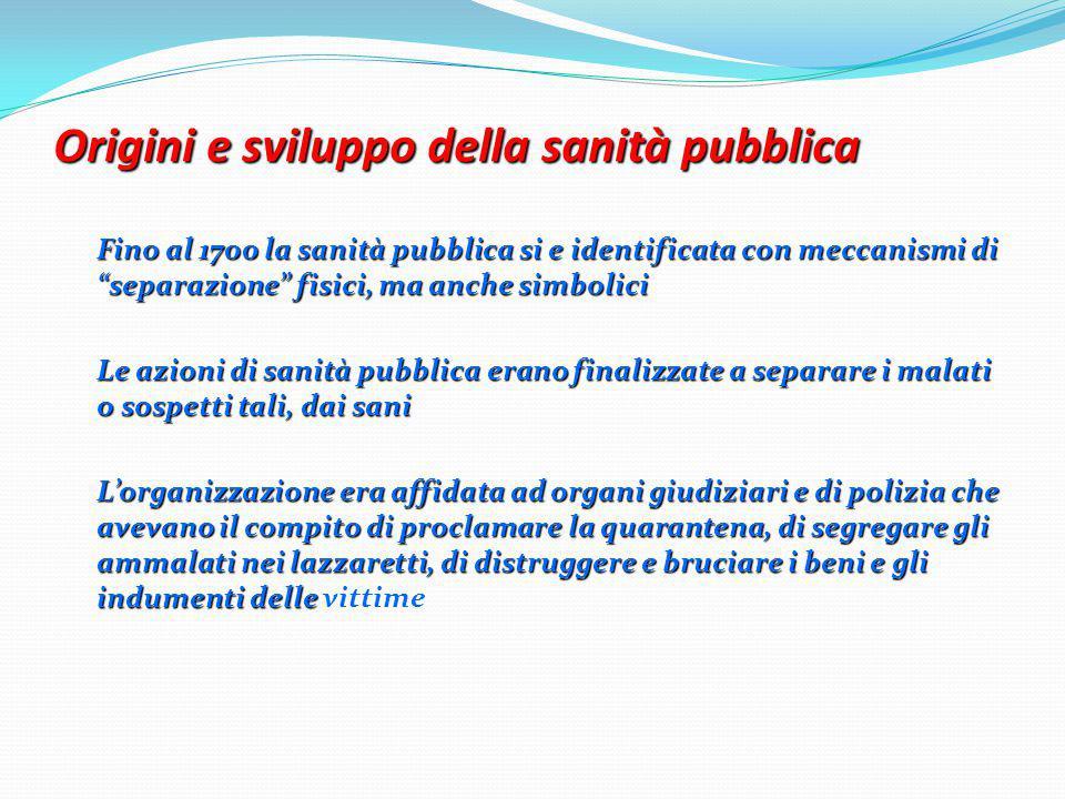 Origini e sviluppo della sanità pubblica