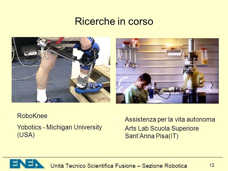 Ricerche in corso RoboKnee Yobotics - Michigan University (USA)