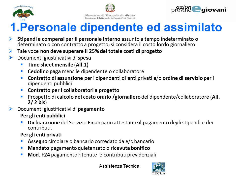 1.Personale dipendente ed assimilato
