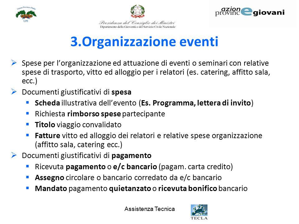 3.Organizzazione eventi