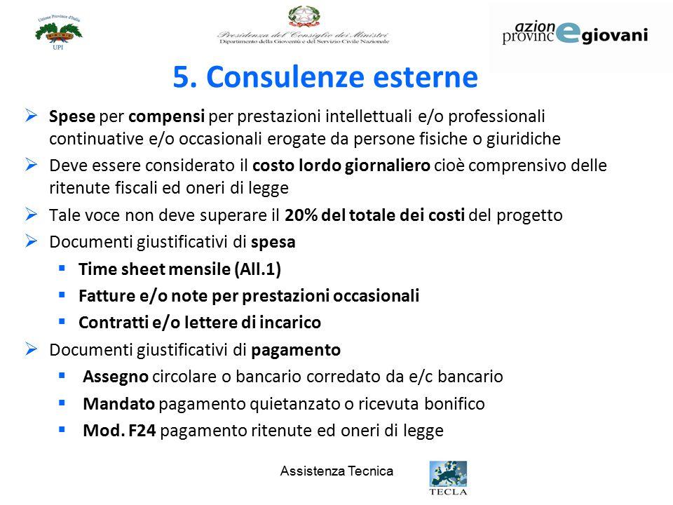5. Consulenze esterne