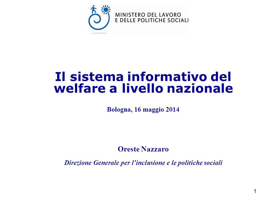 Il sistema informativo del welfare a livello nazionale