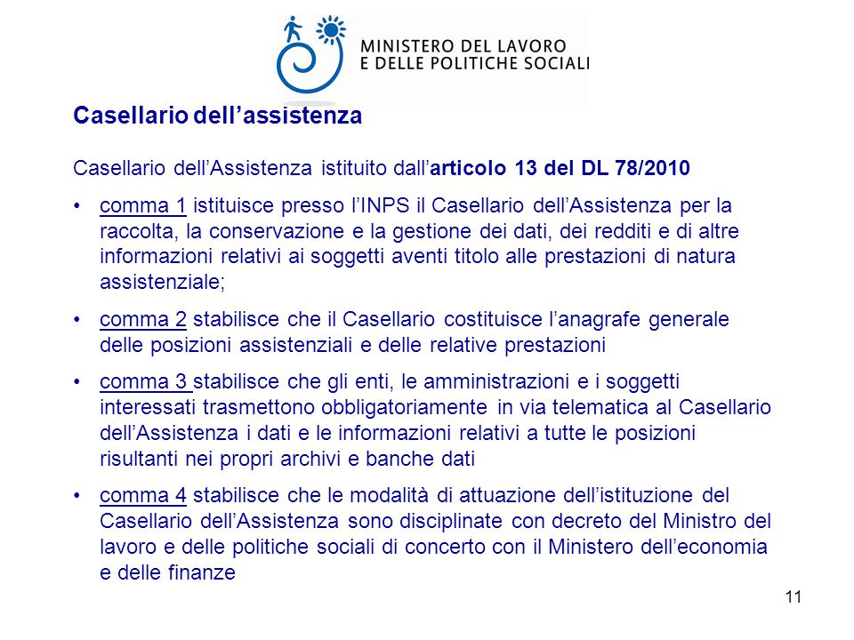 Casellario dell'assistenza