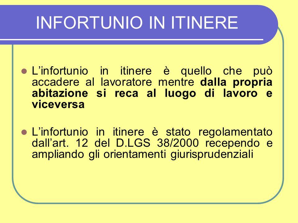 INFORTUNIO IN ITINERE