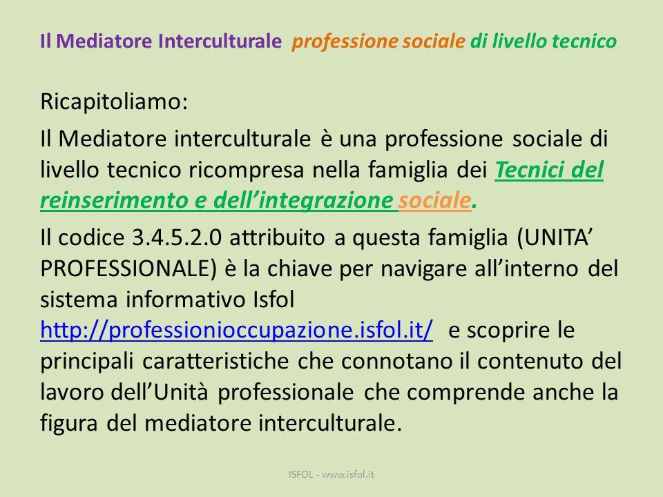 Il Mediatore Interculturale professione sociale di livello tecnico