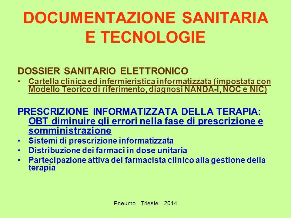 DOCUMENTAZIONE SANITARIA E TECNOLOGIE