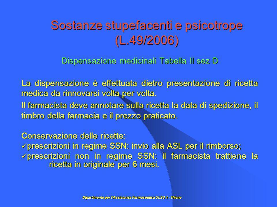 Sostanze stupefacenti e psicotrope (L.49/2006)