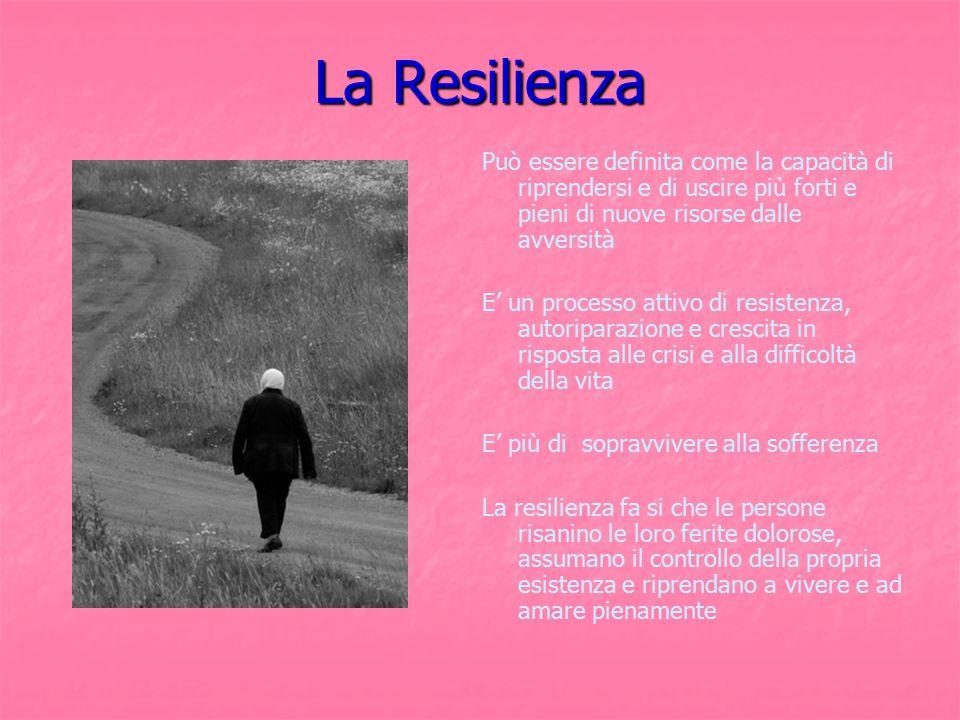 La Resilienza Può essere definita come la capacità di riprendersi e di uscire più forti e pieni di nuove risorse dalle avversità.
