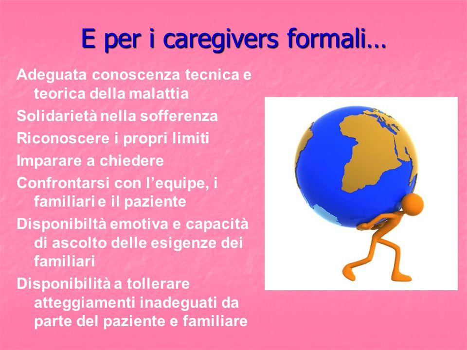 E per i caregivers formali…