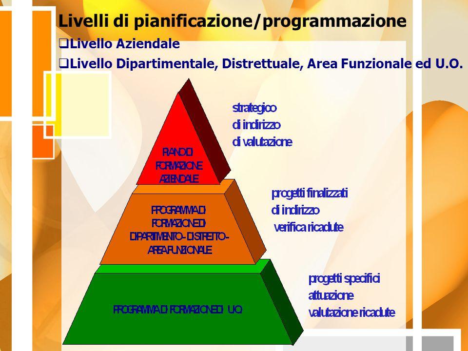 Livelli di pianificazione/programmazione