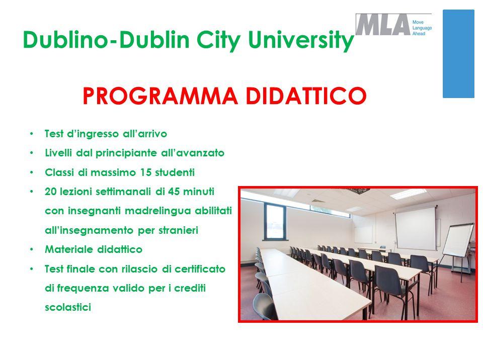 Dublino-Dublin City University PROGRAMMA DIDATTICO