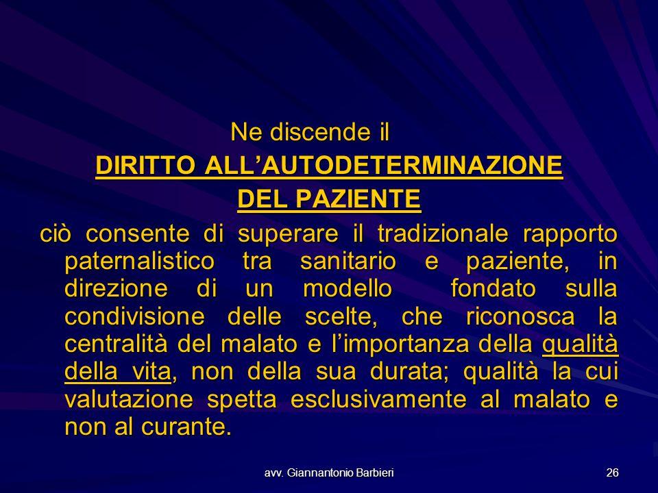 DIRITTO ALL'AUTODETERMINAZIONE