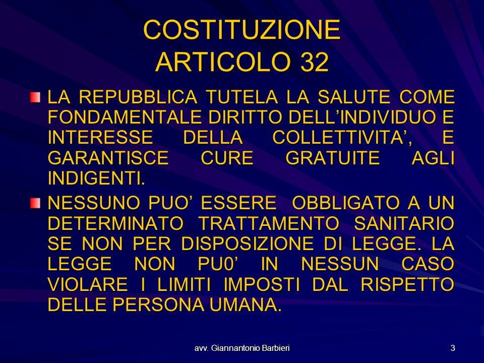 COSTITUZIONE ARTICOLO 32