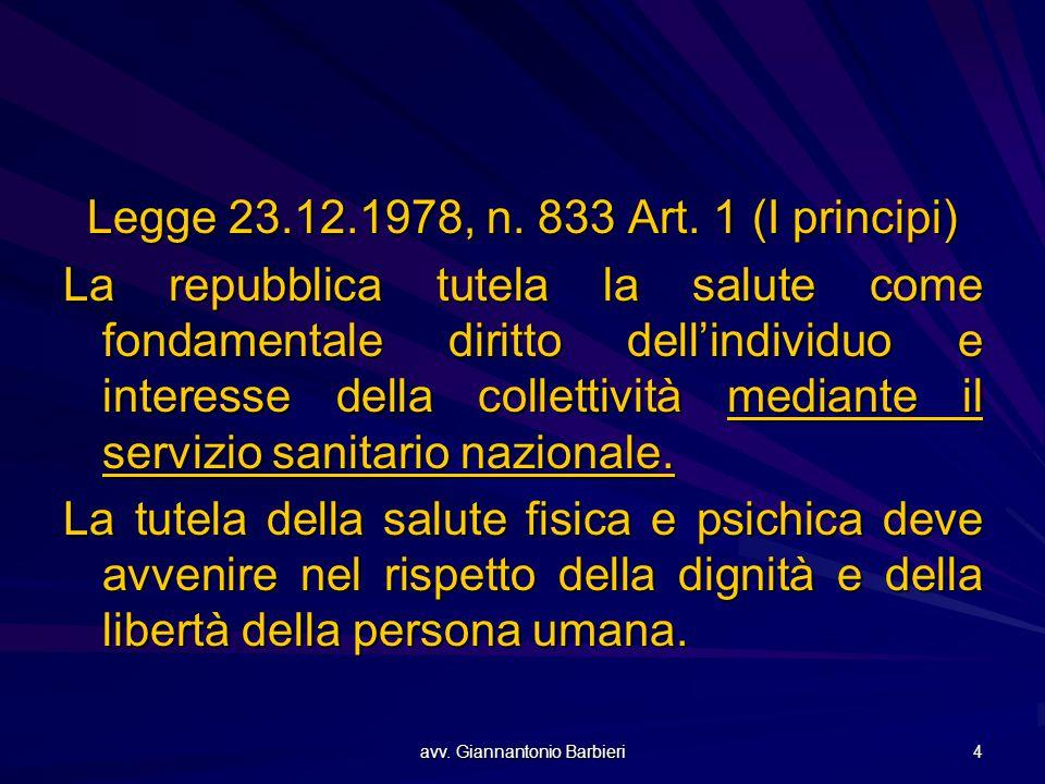 Legge 23.12.1978, n. 833 Art. 1 (I principi)