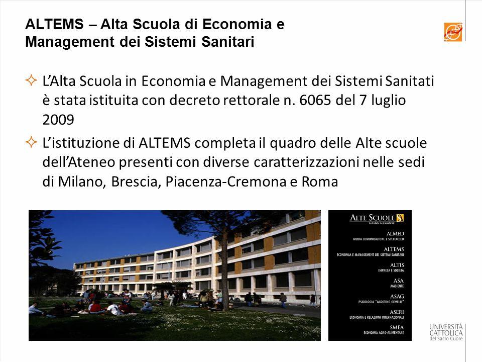 ALTEMS – Alta Scuola di Economia e Management dei Sistemi Sanitari
