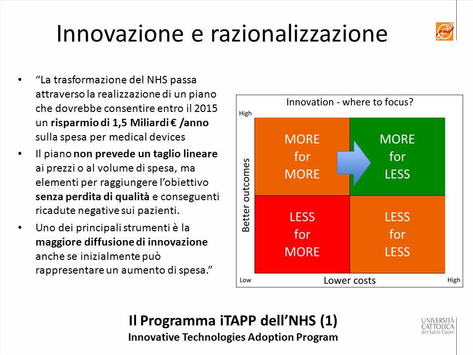 Innovazione e razionalizzazione