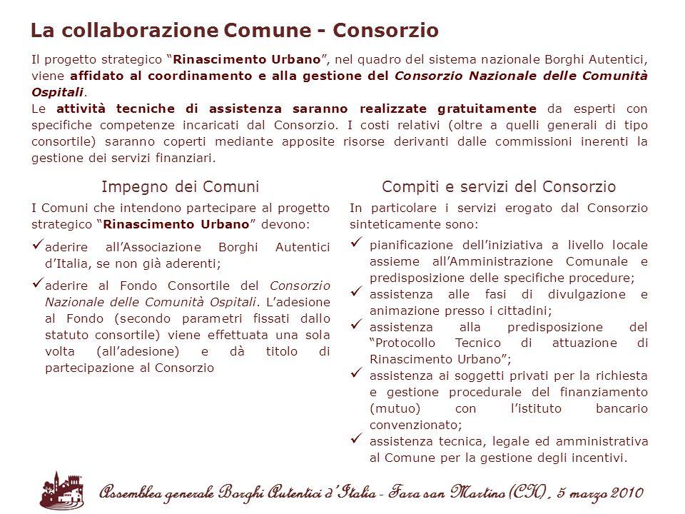 Compiti e servizi del Consorzio