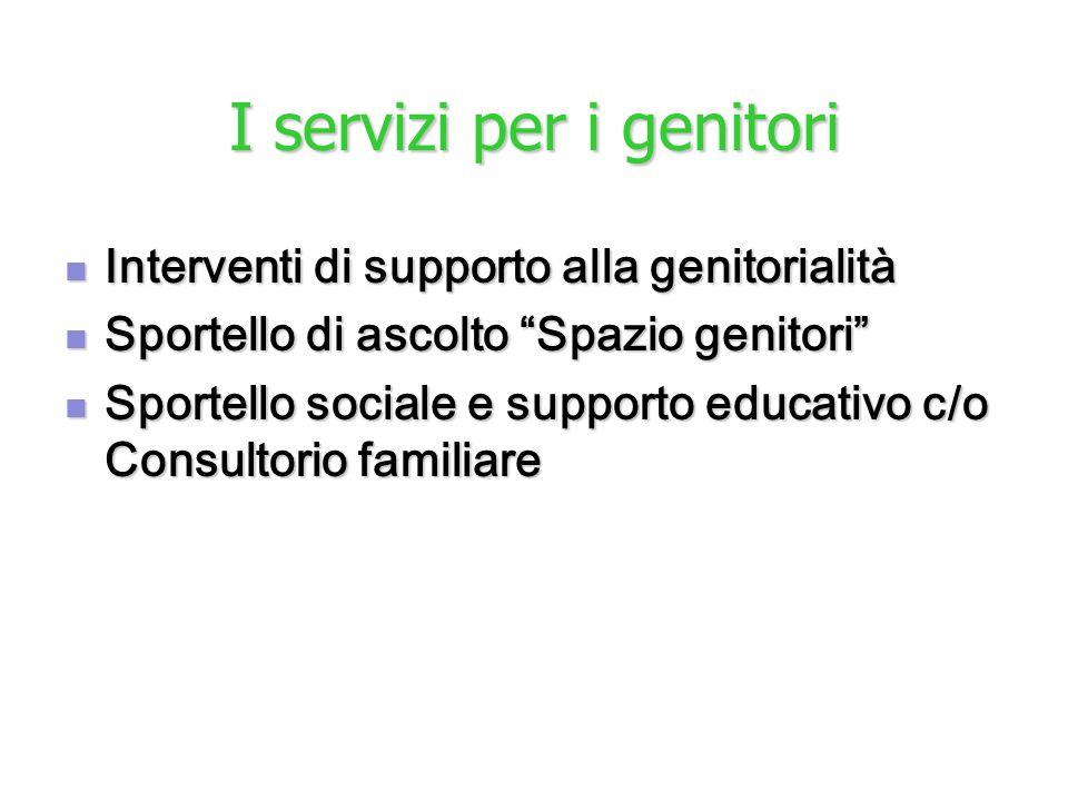 I servizi per i genitori