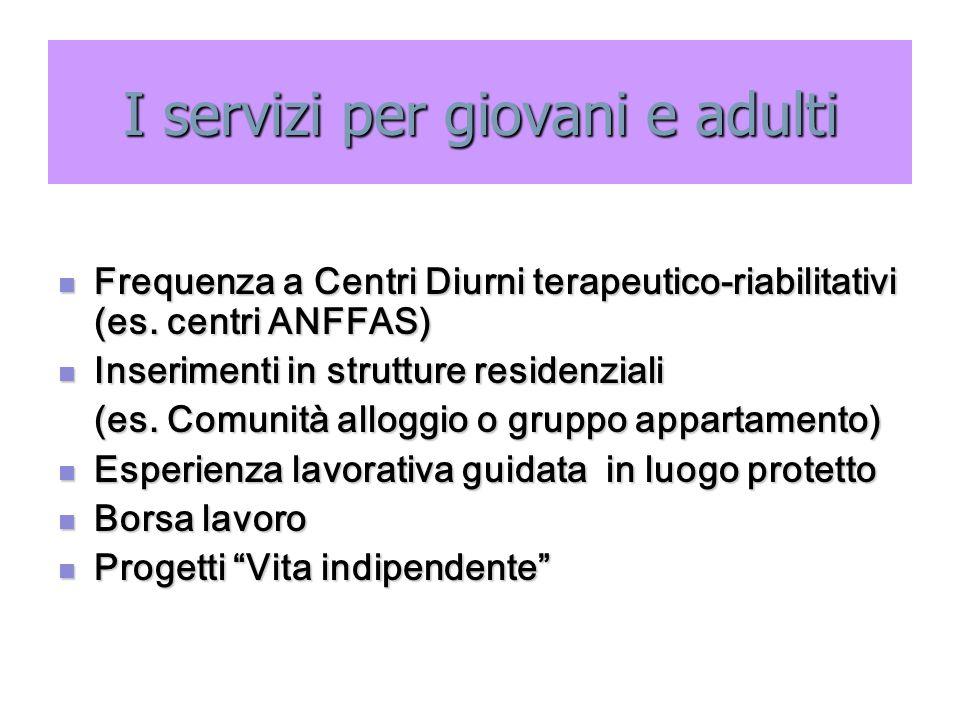 I servizi per giovani e adulti