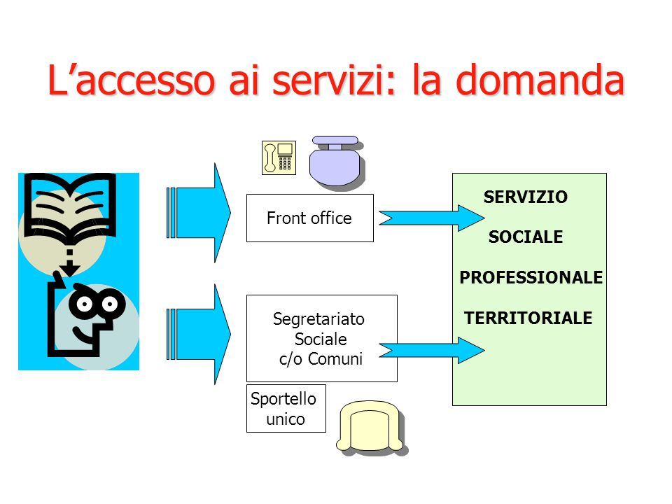 L'accesso ai servizi: la domanda