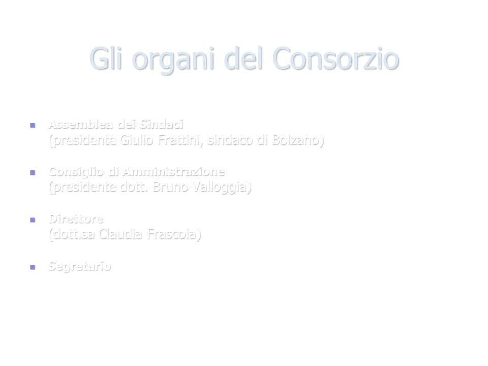 Gli organi del Consorzio