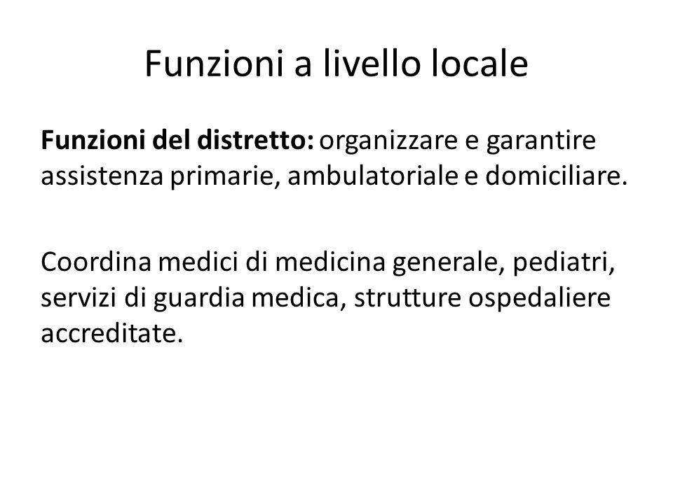 Funzioni a livello locale