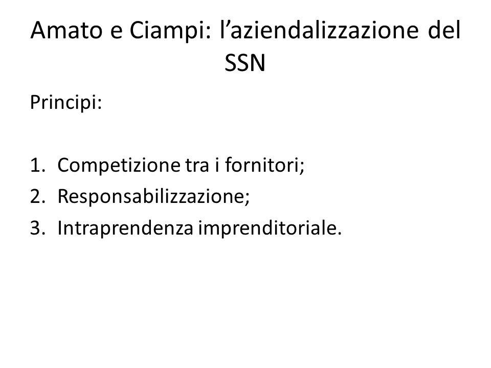 Amato e Ciampi: l'aziendalizzazione del SSN