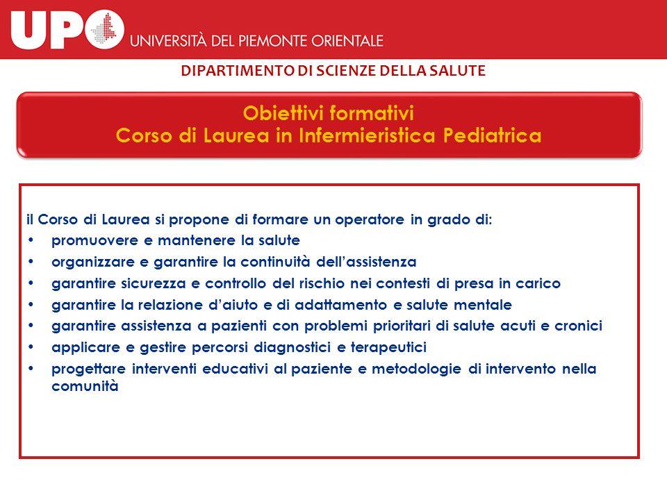 Corso di Laurea in Infermieristica Pediatrica