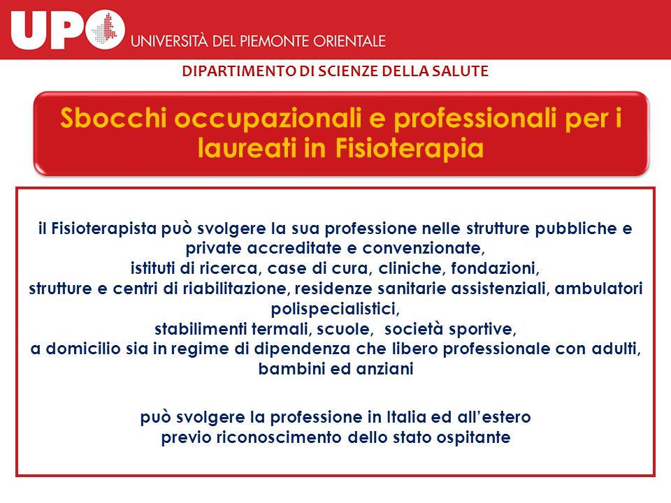 Piano di Studi – Corso di Laurea in Fisioterapia